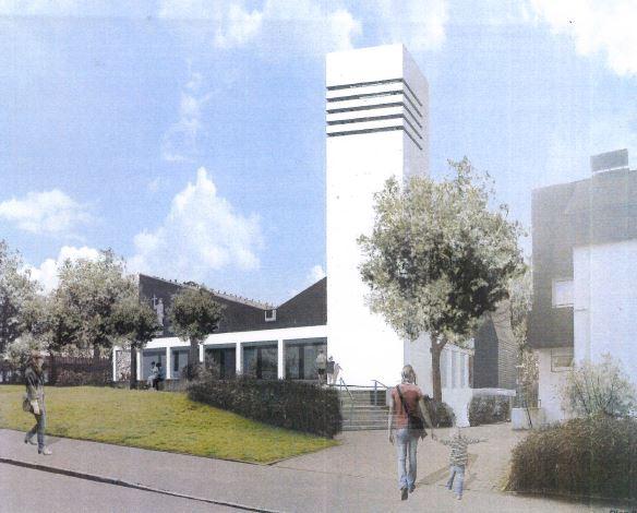 Bild neuer Glockenturm Schueren