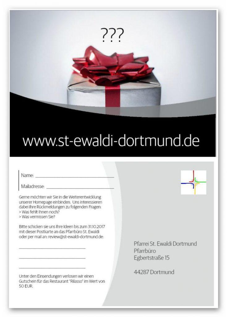 Postkarte St. Ewaldi Dortmund