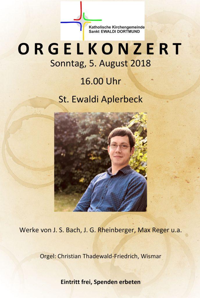 Orgelkonzert Thadewald-Friedrich