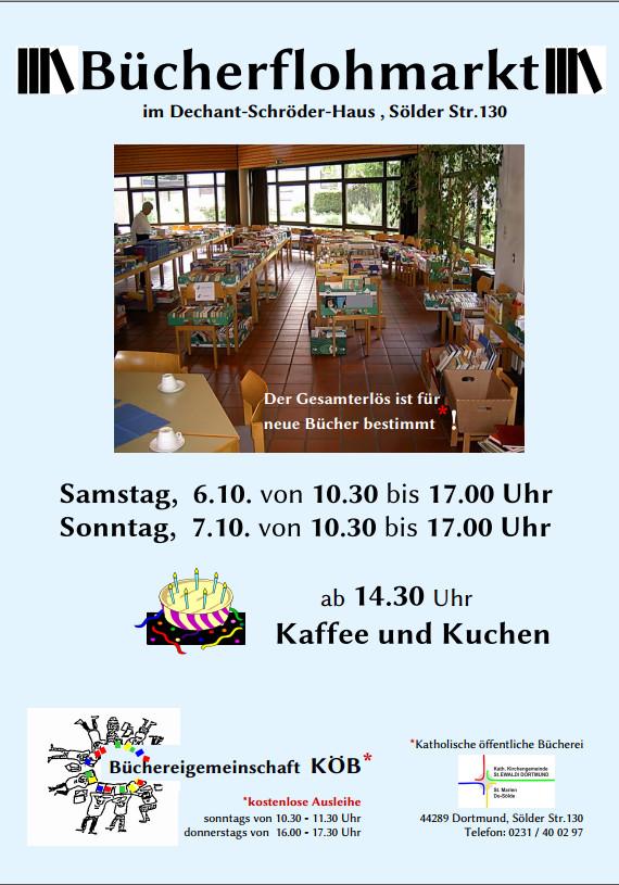 Bücherflohmarkt Sölde 6./07.10.18
