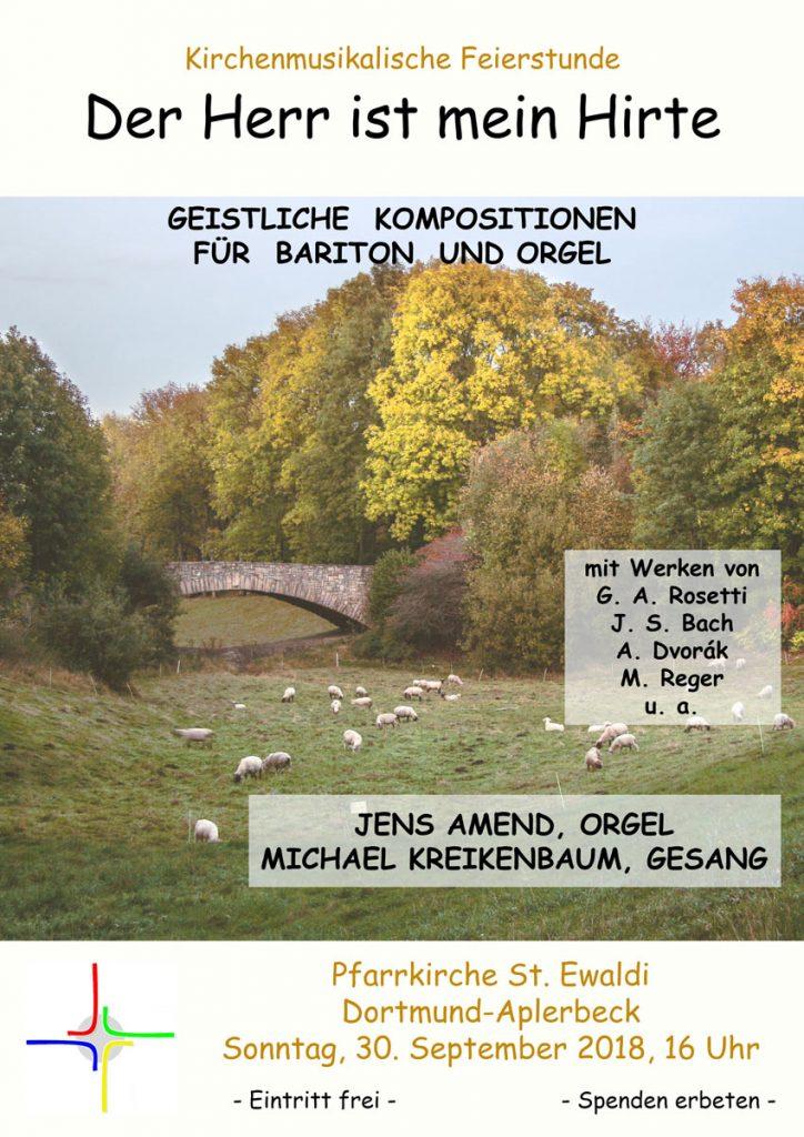 Plakat Kirchenmusikalische Feierstunde 30.09.2018
