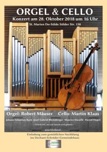 Konzert für Violoncello und Orgel @ St. Marien Sölde | Dortmund | Nordrhein-Westfalen | Deutschland