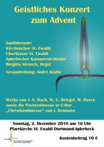 Geistliches Konzert des Kirchenchores St. Ewaldi zum Advent @ St. Ewaldi Aplerbeck   Dortmund   Nordrhein-Westfalen   Deutschland