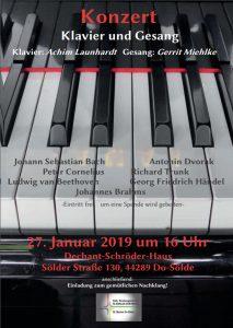 Liedernachmittag zum Ausklang der weihnachtlichen Zeit @ Dechant Schröder Haus   Dortmund   Nordrhein-Westfalen   Deutschland