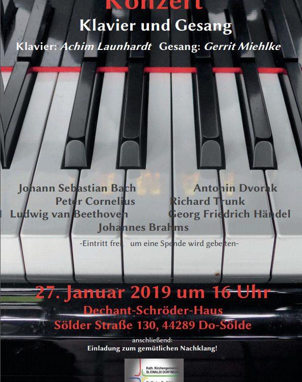 Flugblatt A4 Klavier Launhardt und Gesang Miehlke 27.01.2019