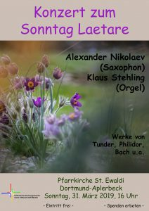 Konzert zum Sonntag Laetare @ St. Ewaldi Aplerbeck   Dortmund   Nordrhein-Westfalen   Deutschland