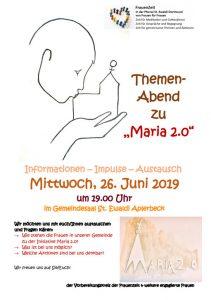 FrauenZeit - Themenabend zu Maria 2.0 @ Gemeindehaus St. Ewaldi Aplerbeck | Dortmund | Nordrhein-Westfalen | Deutschland